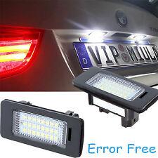 2x Error Free Number License Plate Led Light For BMW E39 E60 E61 E70 E82 E90 E92