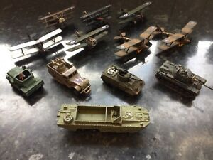 JOBLOT collection Dinky, Corgi and Lledo military vehicles and Aircraft