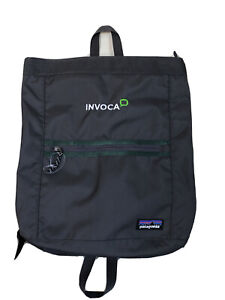"New Patagonia Grey w/ Green Tote Backpack 2-handles sz. 14""-15"""