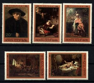 9156 RUSSIA 1976 REMBRANDT PAINTINGS MNH