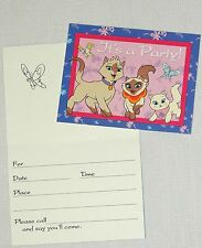 SAGWA THE CHINESE  SIAMESE CAT~~ 8- INVITATIONS  WITH ENVELOPES PARTY SUPPLIES