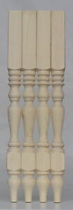 Washstand Table Legs, Set of 4, Solid Pine 55*55*736mm Quality Turned leg A55WS