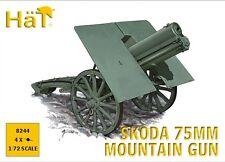 HaT 8244 1/72 Plastic WWI+2 Austria/Hungary Skoda 75mm Mountain Guns (Four Guns)