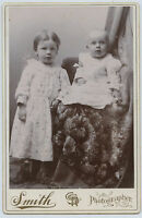 Cabinet Photo - Cute Little Girl & Baby - Smith Studio