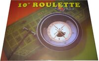 "10"" DELUXE BOXED ROULETTE SET - WHEEL FELT CHIPS RAKE"