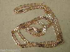 Men's Lady's Rose Pink Tone Gold Plated Mariner Necklace 20in. Long 3mm Wide New