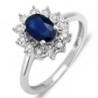 1Ct Diamond Look Engagement Ring - Royal Wedding Engagement Blue Ring All Sizes