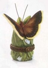 Mourning Cloak Butterfly Phb Porcelain Hinged Box by Midwest of Cannon Falls