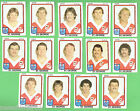 1981 ST GEORGE DRAGONS SCANLENS RUGBY LEAGUE TEAM CARDS