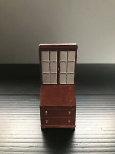 Antique Charbens lead metal dolls house cabinet