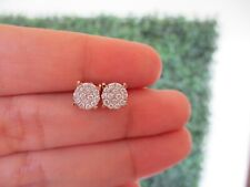 .95 Carat Face Illusion Diamond Earrings 14k Twotone Gold JS90E sep (PRE-ORDER)