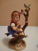 "Vintage Goebel Hummel Figurine Girl in Apple Tree 4"" tall W Germany"