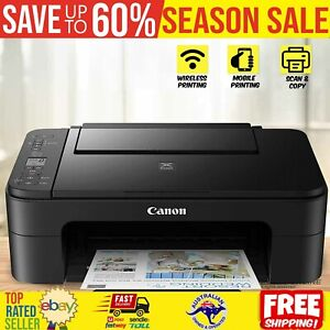 Canon WIRELESS Printer Student Home Office Print Photo Scan Copy Document Inkjet