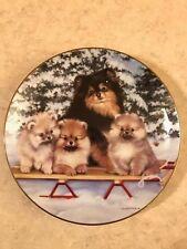 "Michele Amatrula Limited Edition ""Polar Poms"" Collector Plate # A790 Danbury"