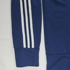 Adidas Mens Sweater Jacket L Full Zip 2003 3-Stripes Navy Blue Retro Trefoil