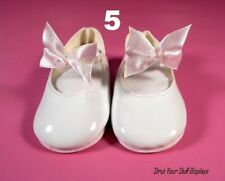 """1 pair White Patent Leather MaryJane Shoes~ New. Size 5 fits 19""""- 22"""" Tall Dolls"""