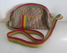 Authentic Christian Dior Paris Rasta Signature Monogram Saddle Shoulder Bag NR