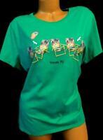 Hanes green plus size crew neck venice, fl short sleeve graphic t-shirt top 2X