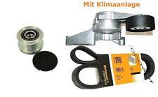 Keilrippenriemen+Riemenspanner+Generatorfreilauf AUDI SEAT VW 1.9 2.0 TDI