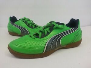 Puma V5 11 Indoor Soccer Cleats Green White Men's Size 6.5