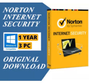 Norton Internet Security 1 Year / 3 PC Downloadable Digital Key (GLOBAL)