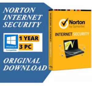 Norton Internet Security 1 Year/3 PC Downloadable Digital Key(GLOBAL)