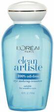 L'Oreal Paris Clean Artiste 100% Oil-Free Eye Makeup Remover 4 oz. New Free Ship