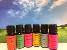 Bundle of 7 bottles Synergy Essential Oils, 10ml, dropper, Tamperproof Cap