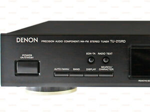 Denon TU-215RD 2-Band AM-FM Stereo Tuner RDS Black High Quality Vintage Radio