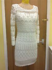 HUGO BOSS  White Crochet Fitted Dress -  size 8 UK worn ONCE £270