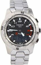Tissot Men's T0474204420700 T-Touch II Black Chronograph Dial Watch