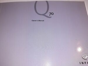 Infiniti Q70 Owners Manual Book Pack with F.O.C UK Postage