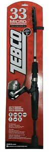 Zebco 33 MICRO Triggerspin 5' Telescopic Ultra Light Combo Fishing Rod & Reel