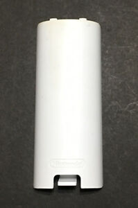 Original White Wii Remote Controller Battery Lid/Cover Replacement OEM Pre Owned