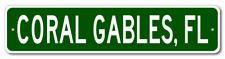 CORAL GABLES, FLORIDA  City Limit Sign - Aluminum