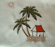 """COCONUT TREE Rectangular Dining Table cover Beige Tablecloth  60"""" x 84"""""""