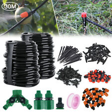 100ft 30M Auto Drip Irrigation System Kit Timer Micro Sprinkler Garden Watering