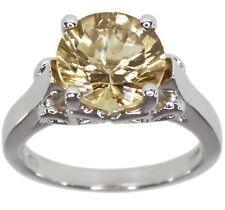 Citrine Gemstone 3.04 carat Sterling Silver Ring size N