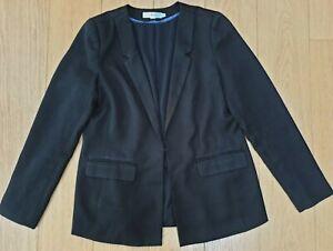 Ladies BODEN Lined Long Sleeve TUX Style BLAZER Jacket Pockets SIZE 12 - BLACK
