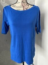 Womens M&S Collection Pure Cotton Top Size 18 Boat Neck
