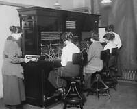 OLD PHOTO Telephone Exchange 19119 Switchboard Operators At The Switchboard