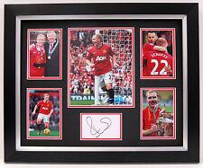 Paul SCHOLES Signed FRAMED Autograph Man United DISPLAY AFTAL COA Treble WINNER