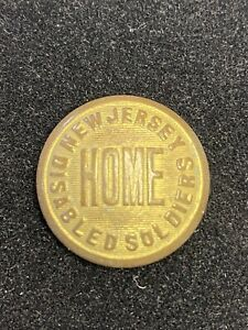 New Jersey Home for Disabled Soldiers Brass Button Post Civil War 24mm
