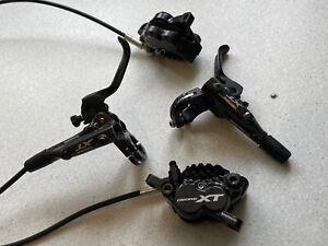 Shimano XT M8020 4pot brakes, XT 4 piston hydraulic front and rear brake set