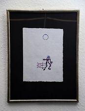 Max Ernst monogramiert und bezeichnet , Farblithographie auf Japan