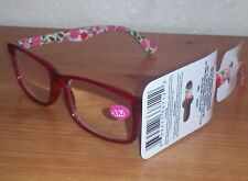 Womens Floral Fashion Reading Glasses (+3.25 Strength) Red D4360