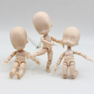 Nude Baby Dolls Toys Moveable 15cm Mini baby Action Figure toys DIY BJD Doll