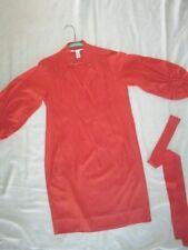 $325 Diane von Furstenberg silk size 2 two xs womens career dress orange 3/4 sl