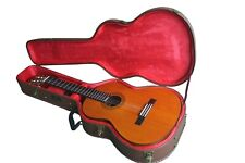 Vintage style classical Spanish guitar flight case by Rock Hard Classic brown