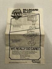 KENNER MASK BILLBOARD BLAST ORIGINAL INSTRUCTION BOOKLET 1987 VINTAGE M.A.S.K.